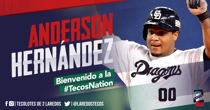 Anderson Hernández se une a Los Tecolotes de Dos Laredos